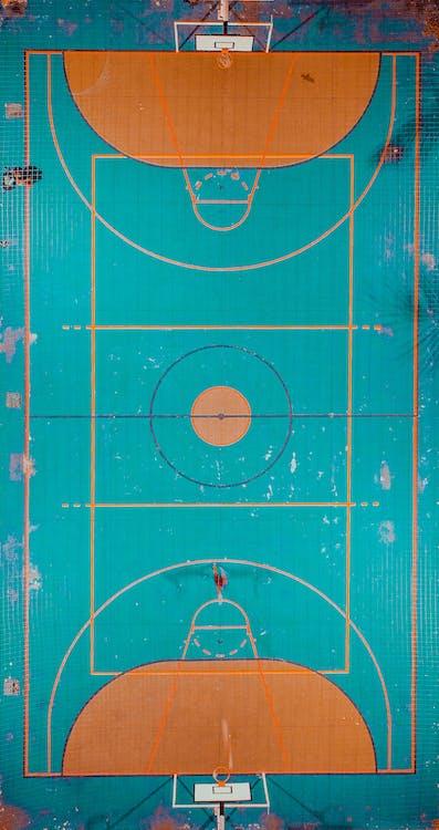 bane, basketballbane, fra oven