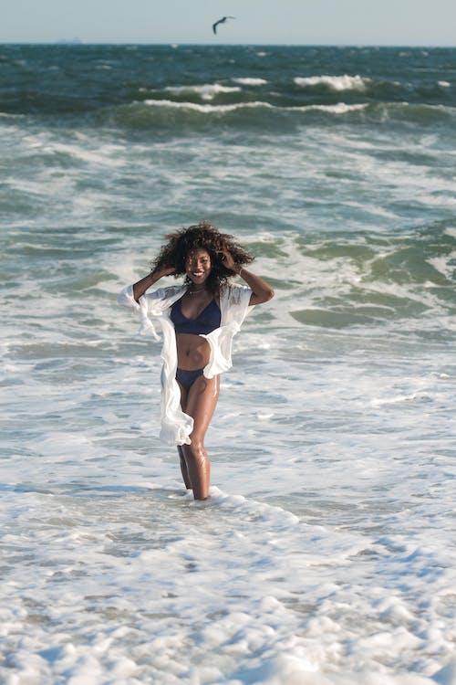 afričanka, afroameričanka, bikini