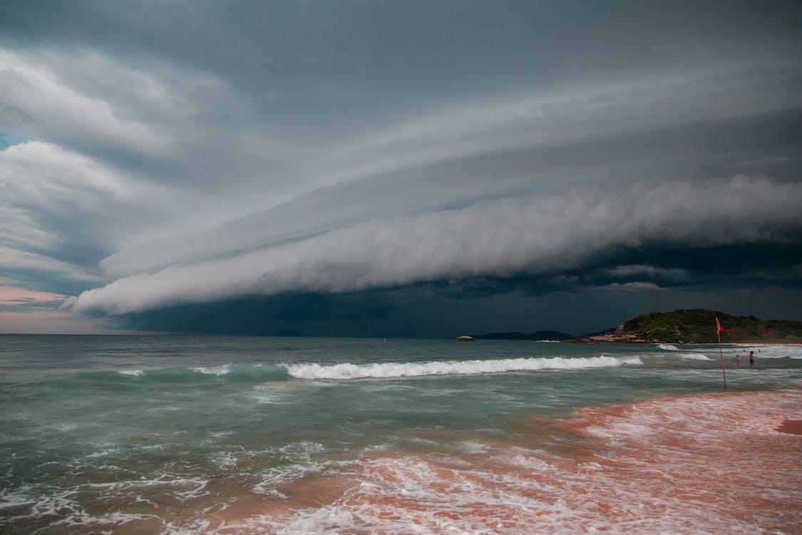 Sea Under White Dramatic Sky