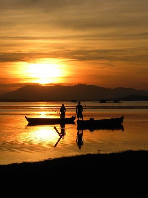Fotos de stock gratuitas de amanecer, anochecer, costa, lago
