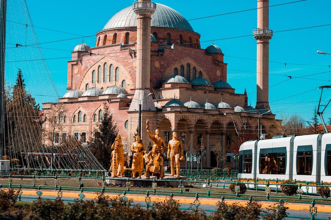 mešita, město, modrá
