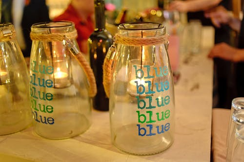 Free stock photo of bar, blue, bottles, colored