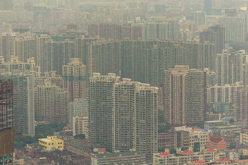 Free stock photo of air pollution, buildings, china