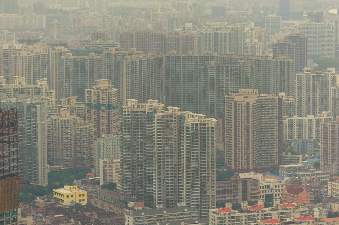 air pollution, buildings, china