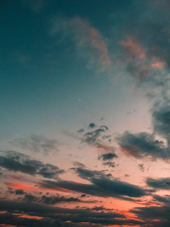 dämmerung, himmel, natur