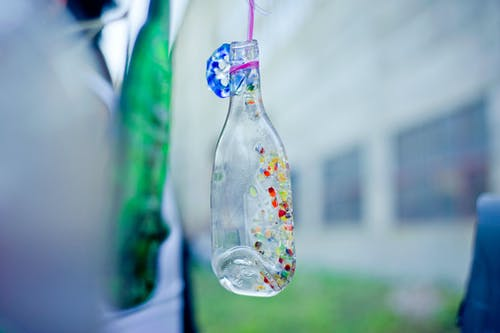 Foto d'estoc gratuïta de ampolla de vidre, art, corda, de colors
