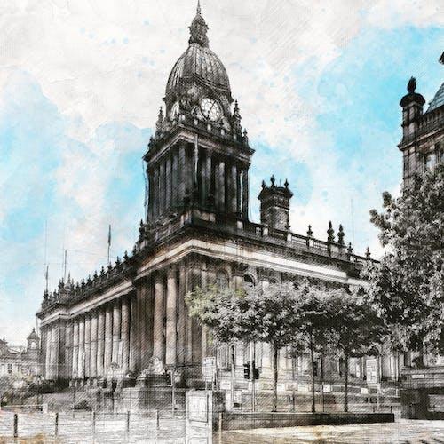 Free stock photo of Leeds townhall