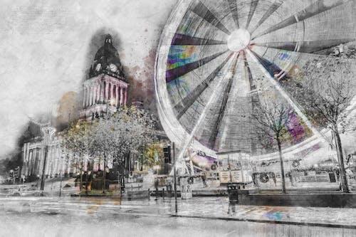Δωρεάν στοκ φωτογραφιών με leeds, δημαρχείο, σκίτσο
