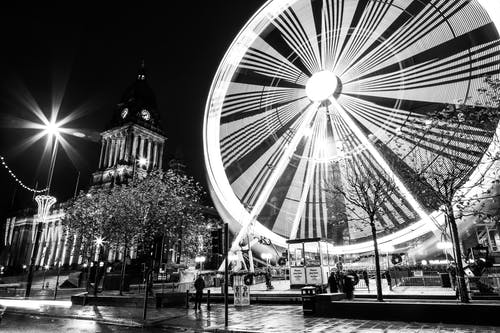 Free stock photo of black and white, leeds, townhall