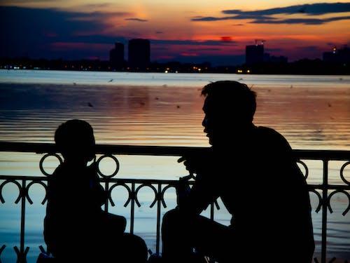 Free stock photo of parents, silhouette, sunset, vietnam