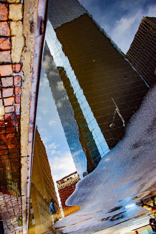 Free stock photo of city, new york city, puddle, reflection
