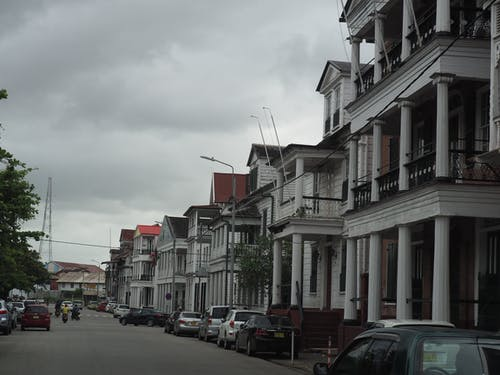 Free stock photo of colonial house, suriname