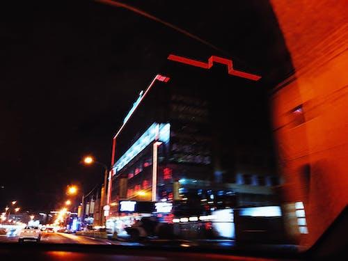 คลังภาพถ่ายฟรี ของ กลางคืน, สถาปัตยกรรม, ไฟ