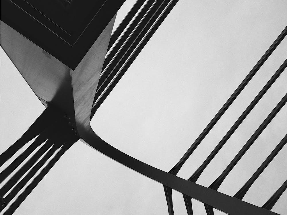 acél, alacsony szögű felvétel, design