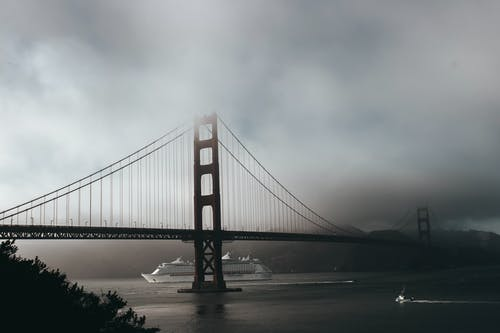 Golden Gate Bridge En Photographie En Niveaux De Gris