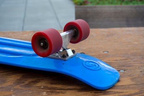 Free stock photo of blue, longboard, red, skate