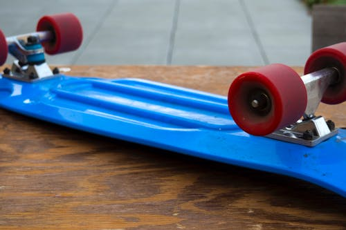 Free stock photo of blue, longboard, red