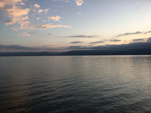 日落, 湖, 紫色 的 免費圖庫相片