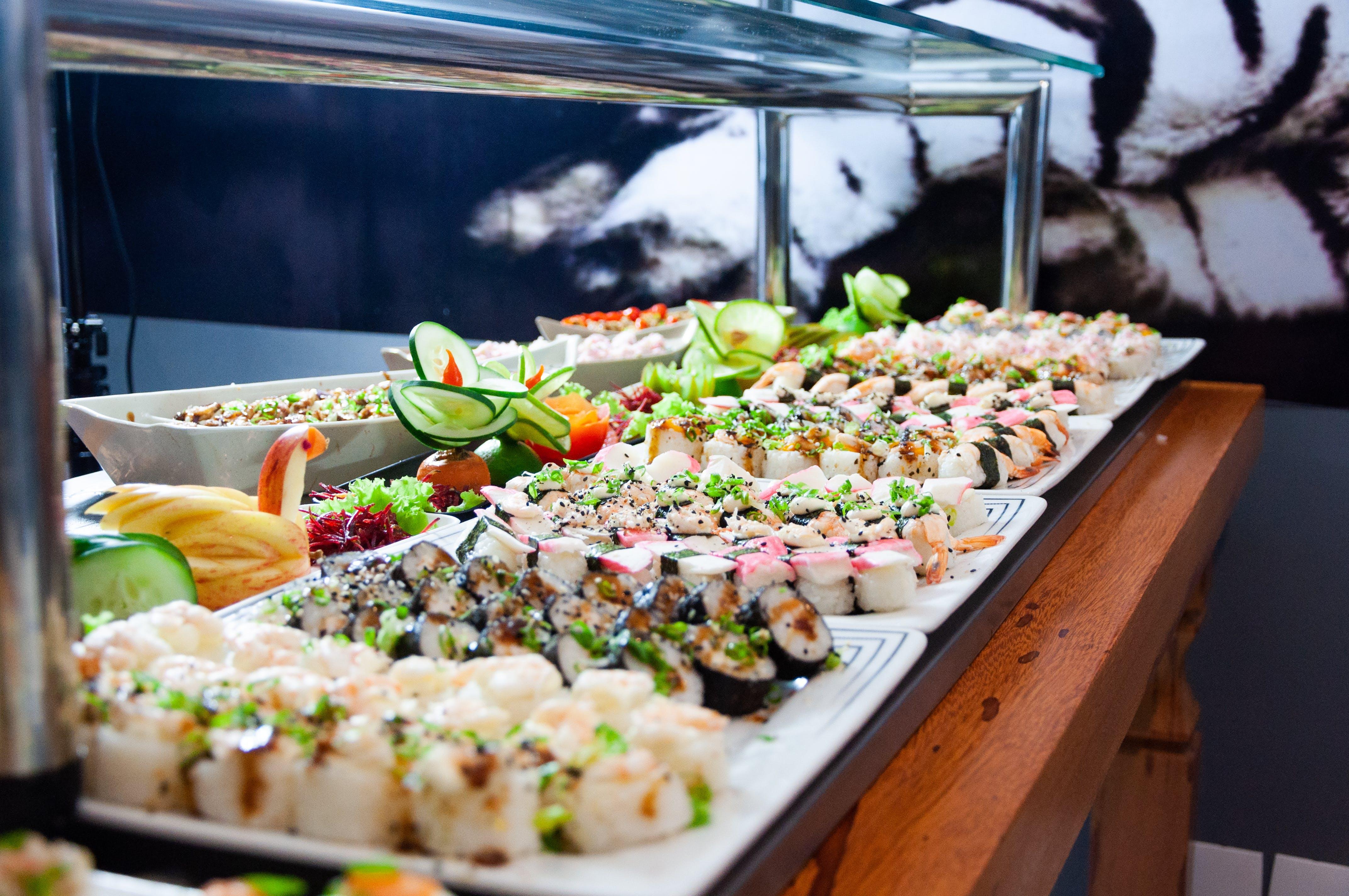 akşam yemeği, alan derinliği, aperitif, balık içeren Ücretsiz stok fotoğraf