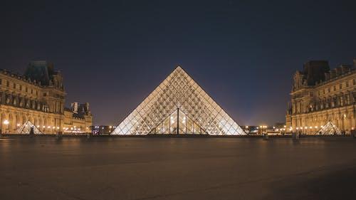 Ilmainen kuvapankkikuva tunnisteilla louvre, museo, pariisi, pyramidi