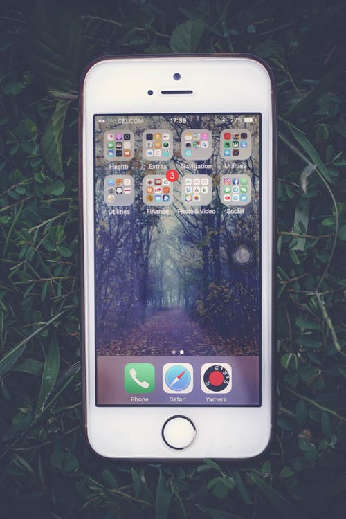 Silver Iphone 5 S