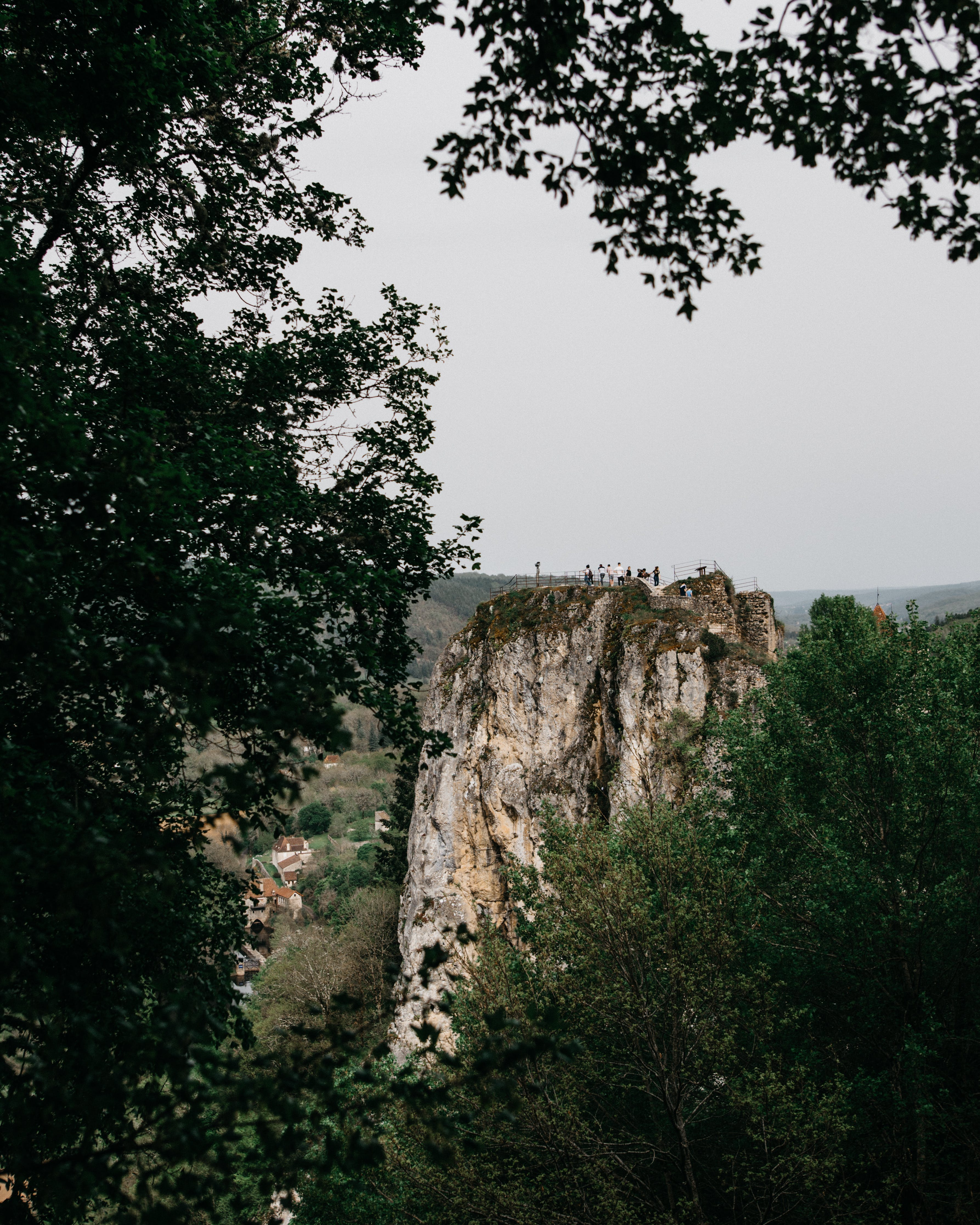 Rock Formation over the Trees