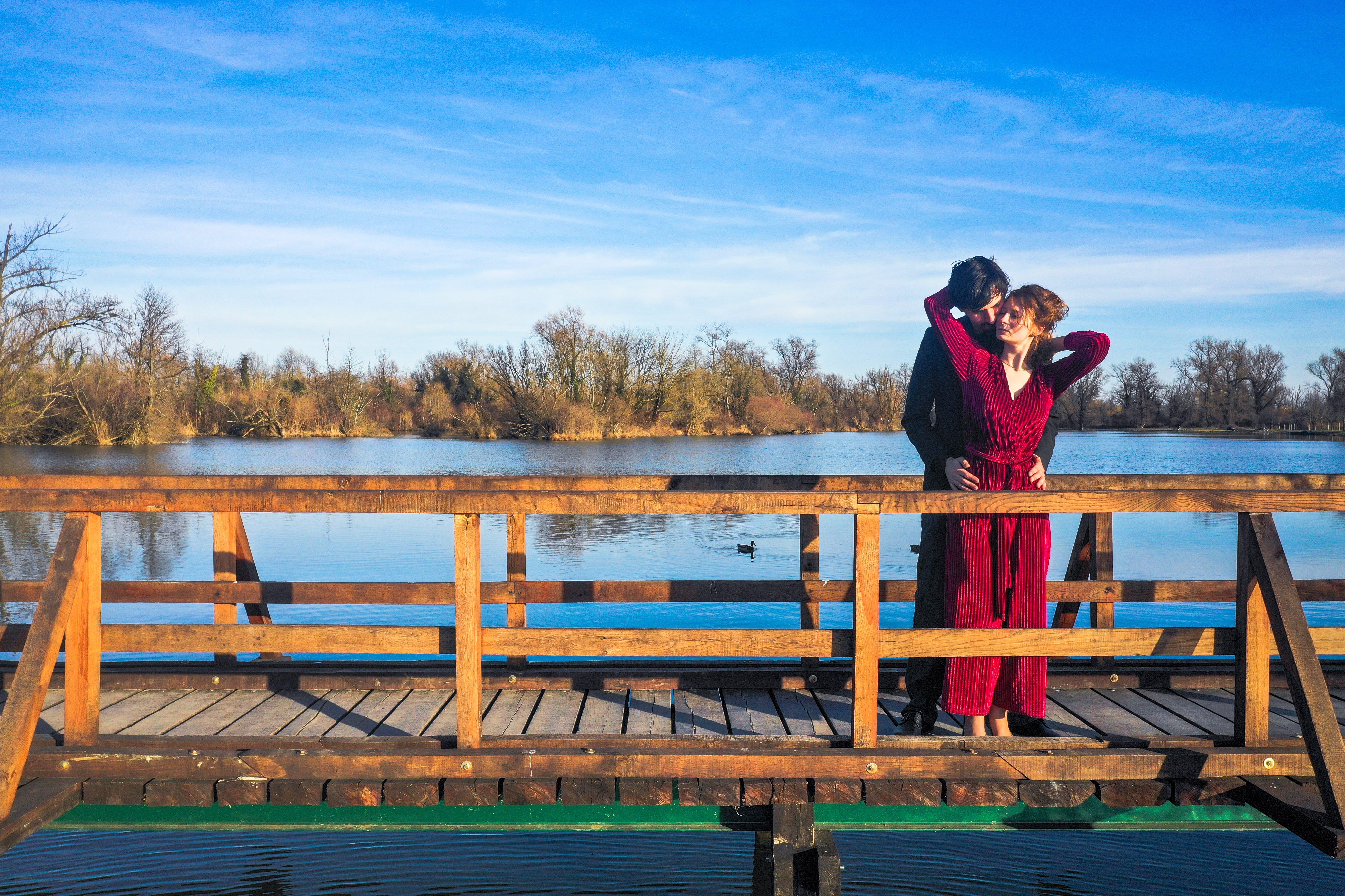 Foto stok gratis #alam, #arialphoto, #couple, #dron