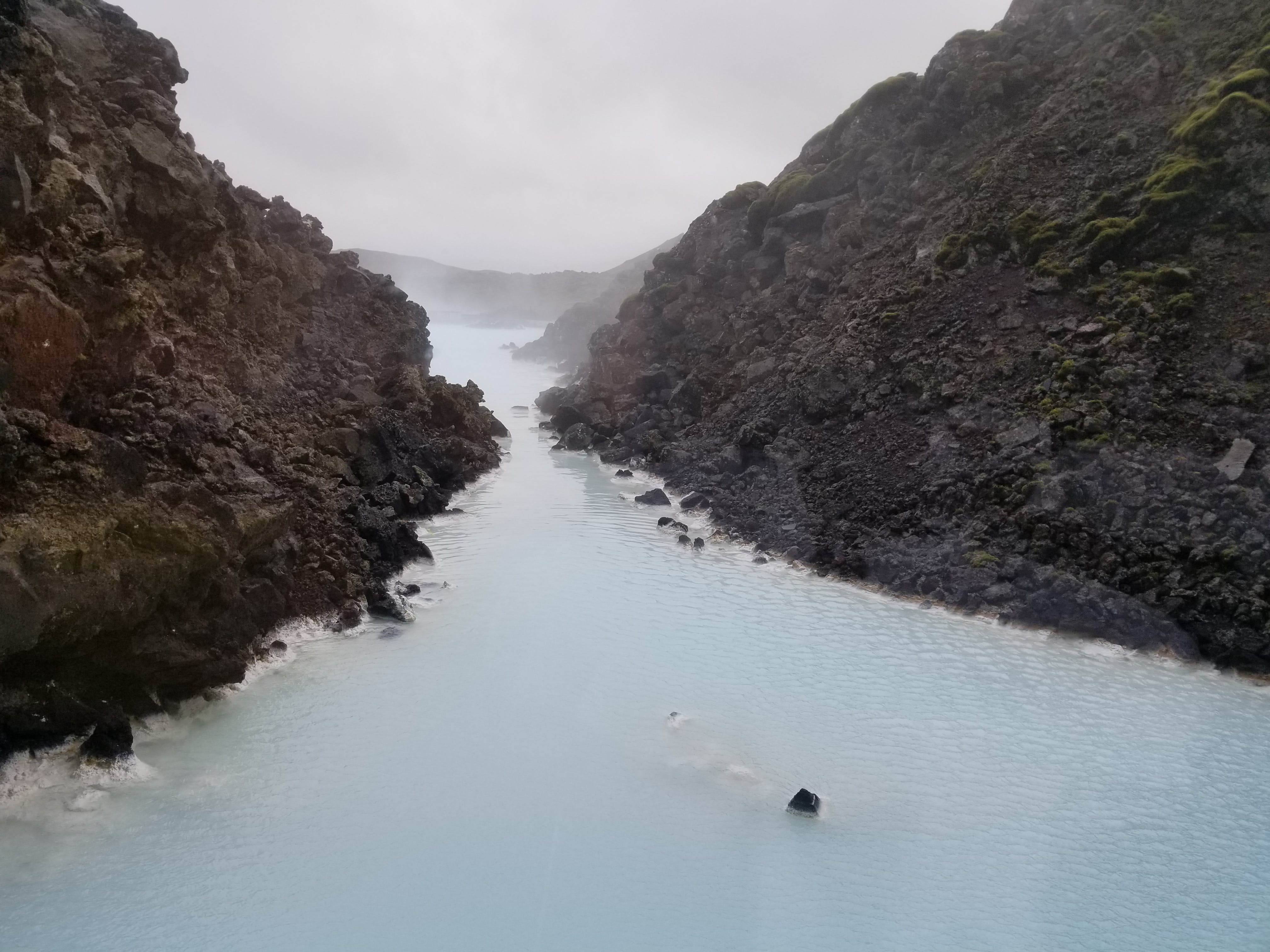 Free stock photo of blue lagoon, geothermal spa, lava field, steam