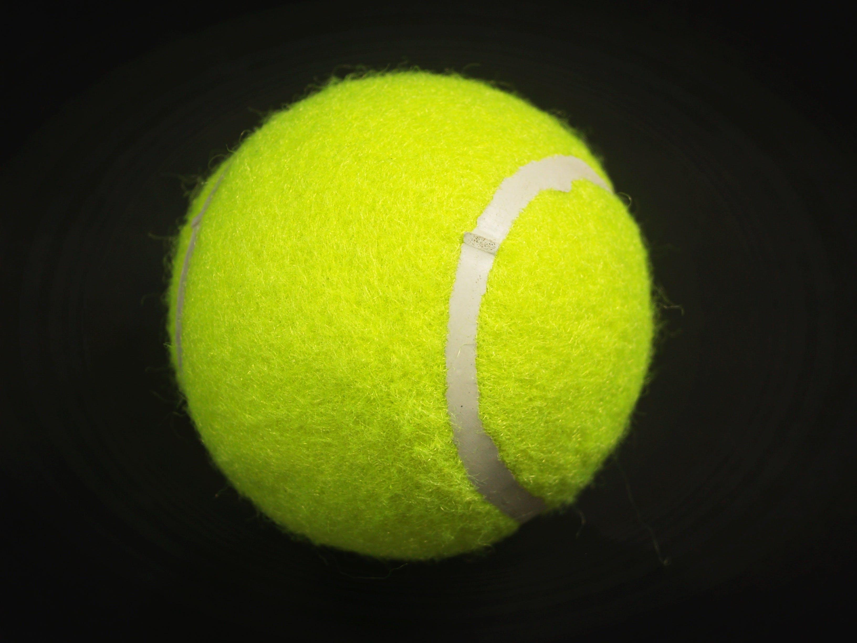 Green Tennis Ball Illustration