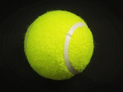 Tennis Ball On Tennis Racket On Floor 183 Free Stock Photo