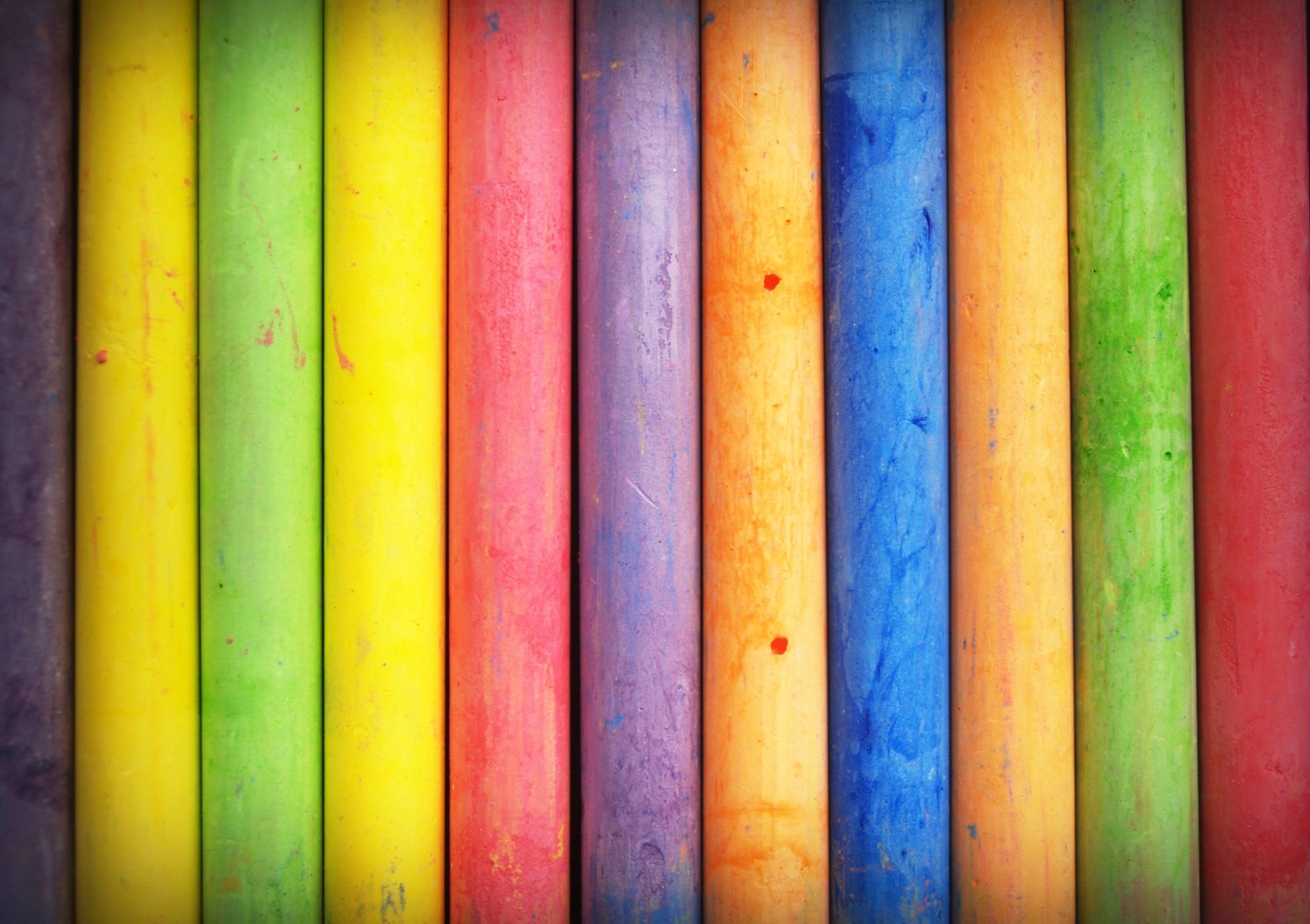 Closeup Photo of Multi Color Stick