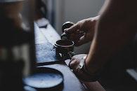 coffee, cup, hand