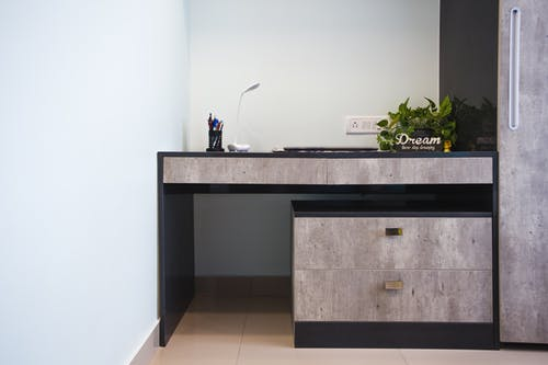 Gray Wooden Dresser
