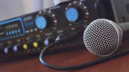 Tilt Shift Photography of Microphone