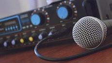 technology, blur, microphone