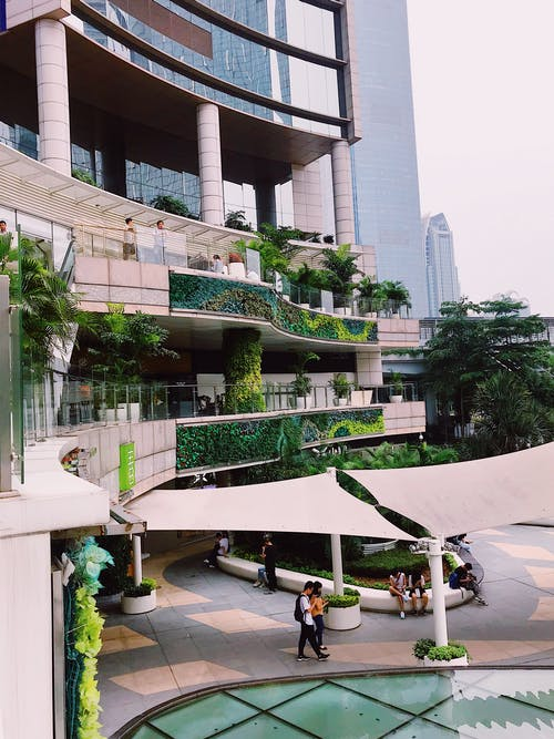 Immagine gratuita di alberi, alto, architettura, architettura moderna