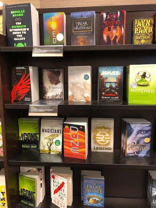 Free stock photo of book, book bindings, book mark, bookshelves