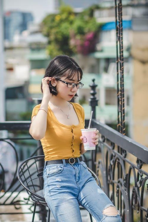 Fotobanka sbezplatnými fotkami na tému atraktívny, Ážijčanka, ázijské dievča, červené pery