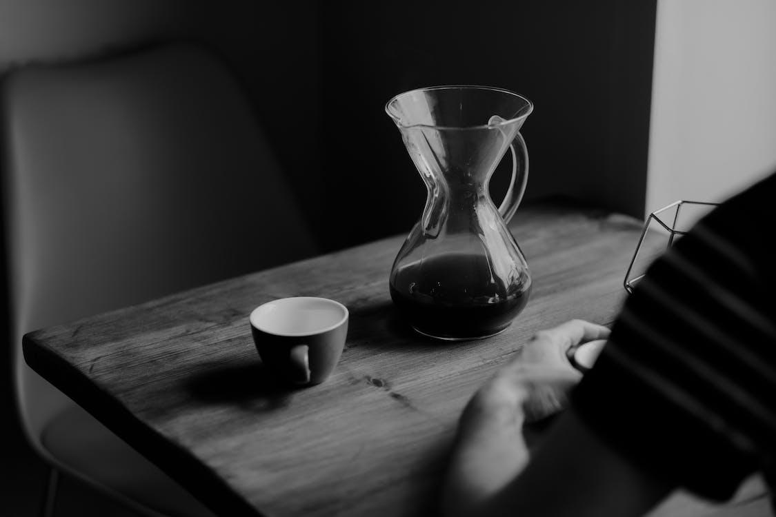 bord, cafe, close-up