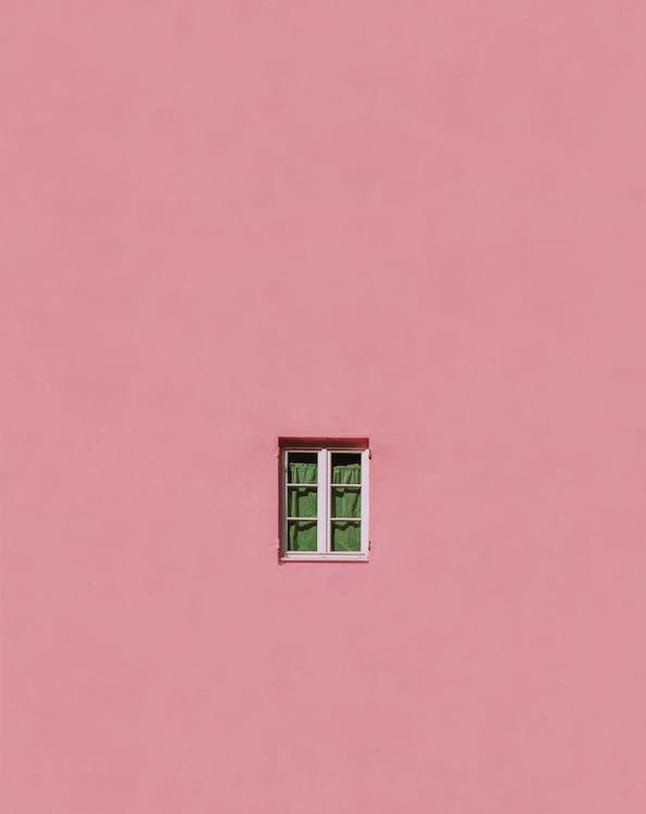 bygning, lyserød, pink