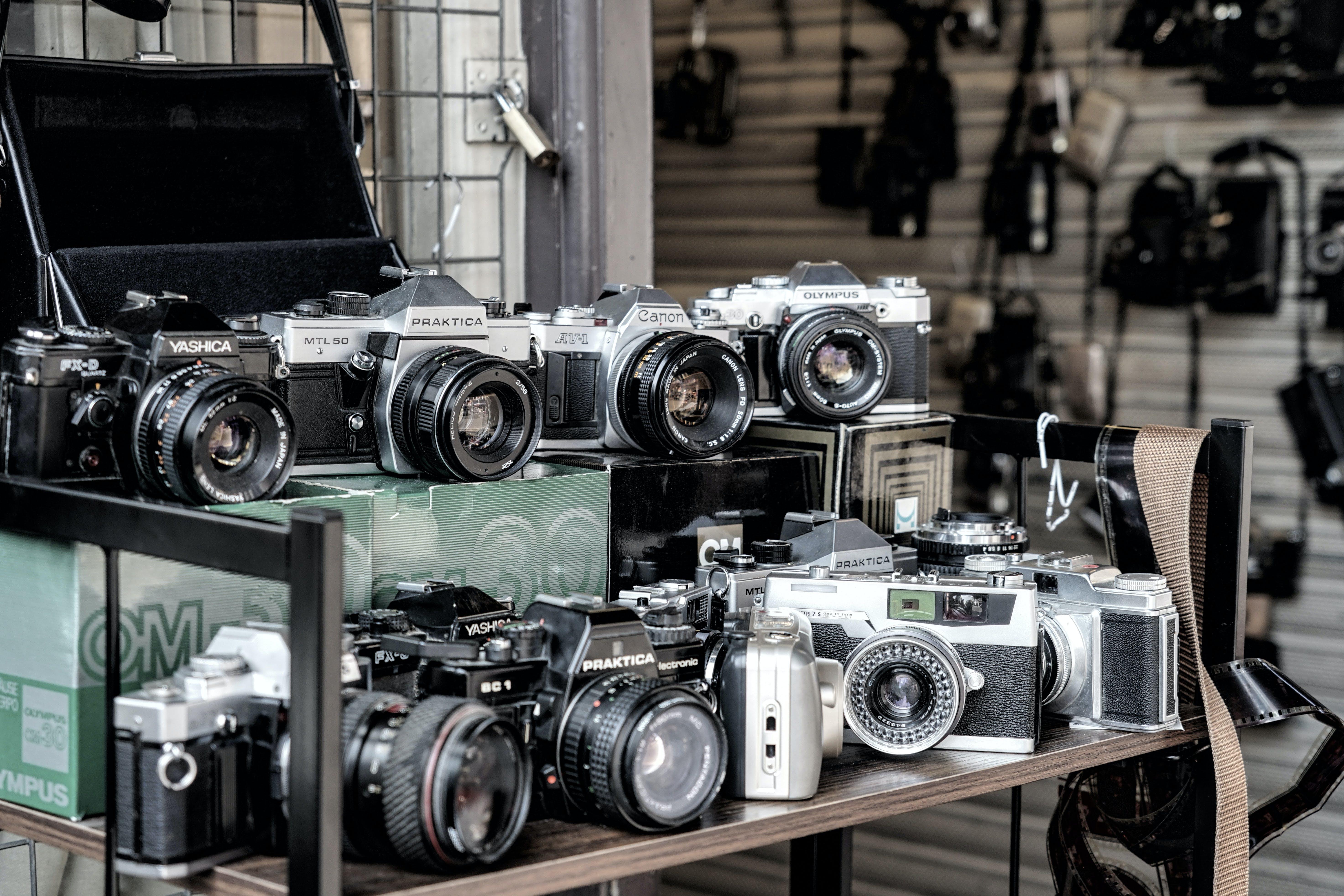 Kostenloses Stock Foto zu analogon, kameras, klassisch, linse