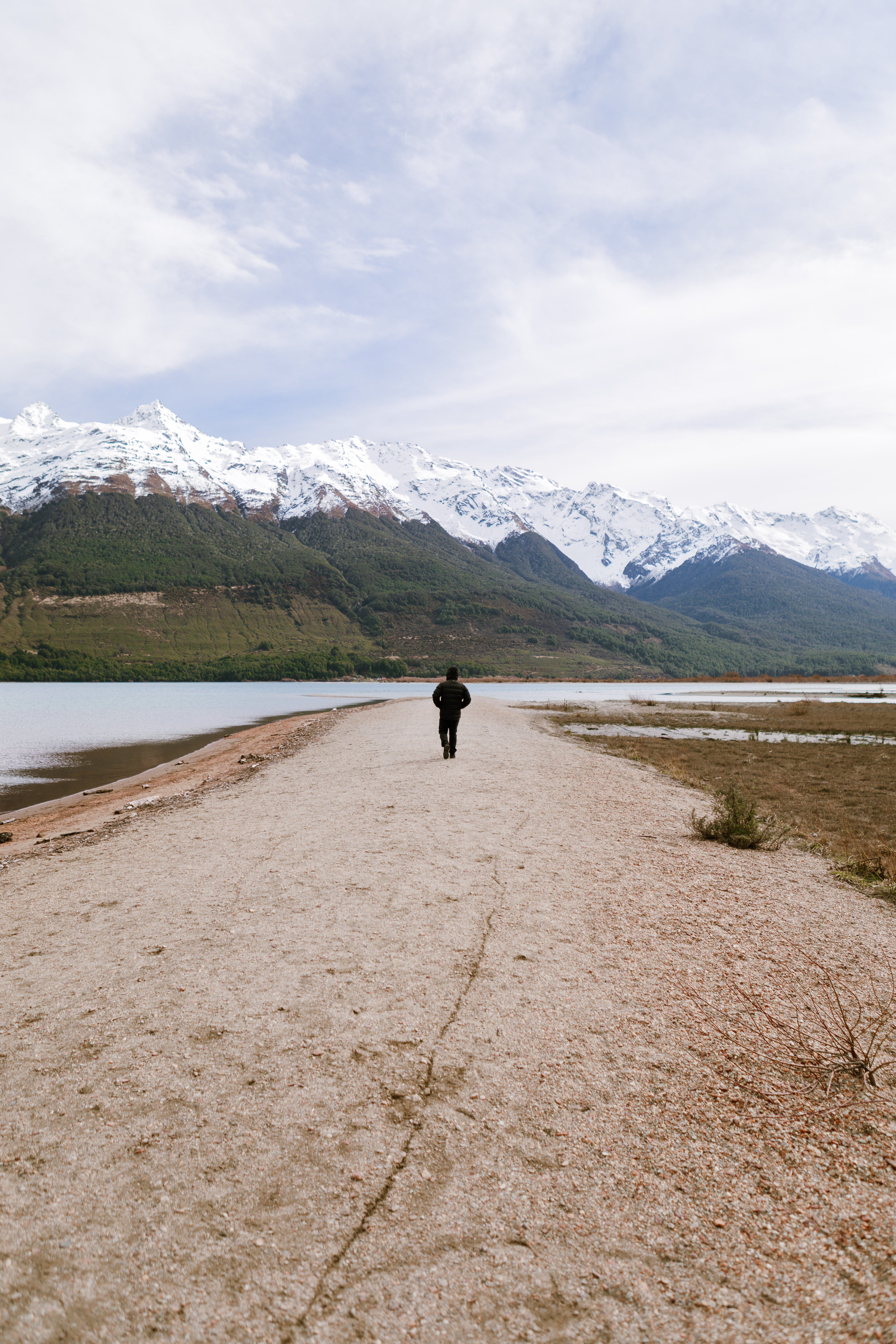 Person Walking on Path