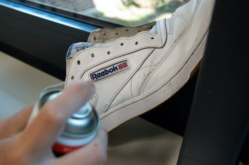 Free stock photo of can, cleaning, reebok, shoe