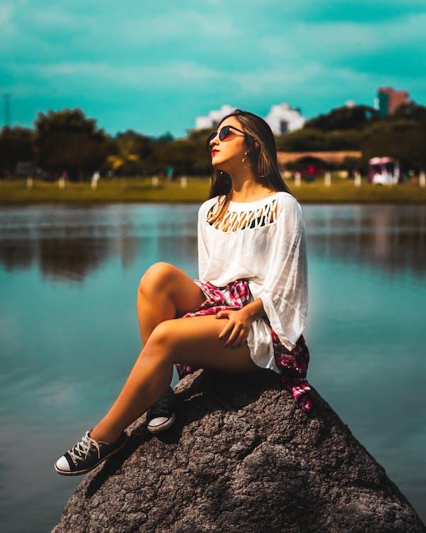#woda, kobieta, laguna