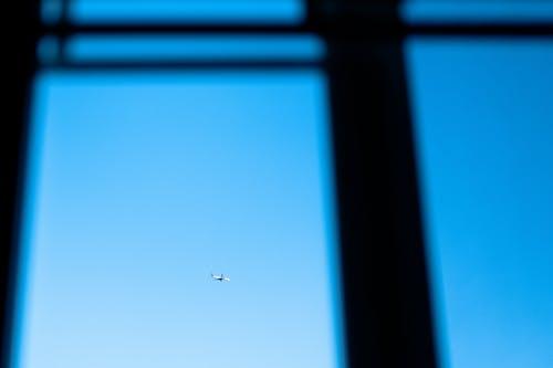 ガラスの窓, 晴天, 飛行機の無料の写真素材