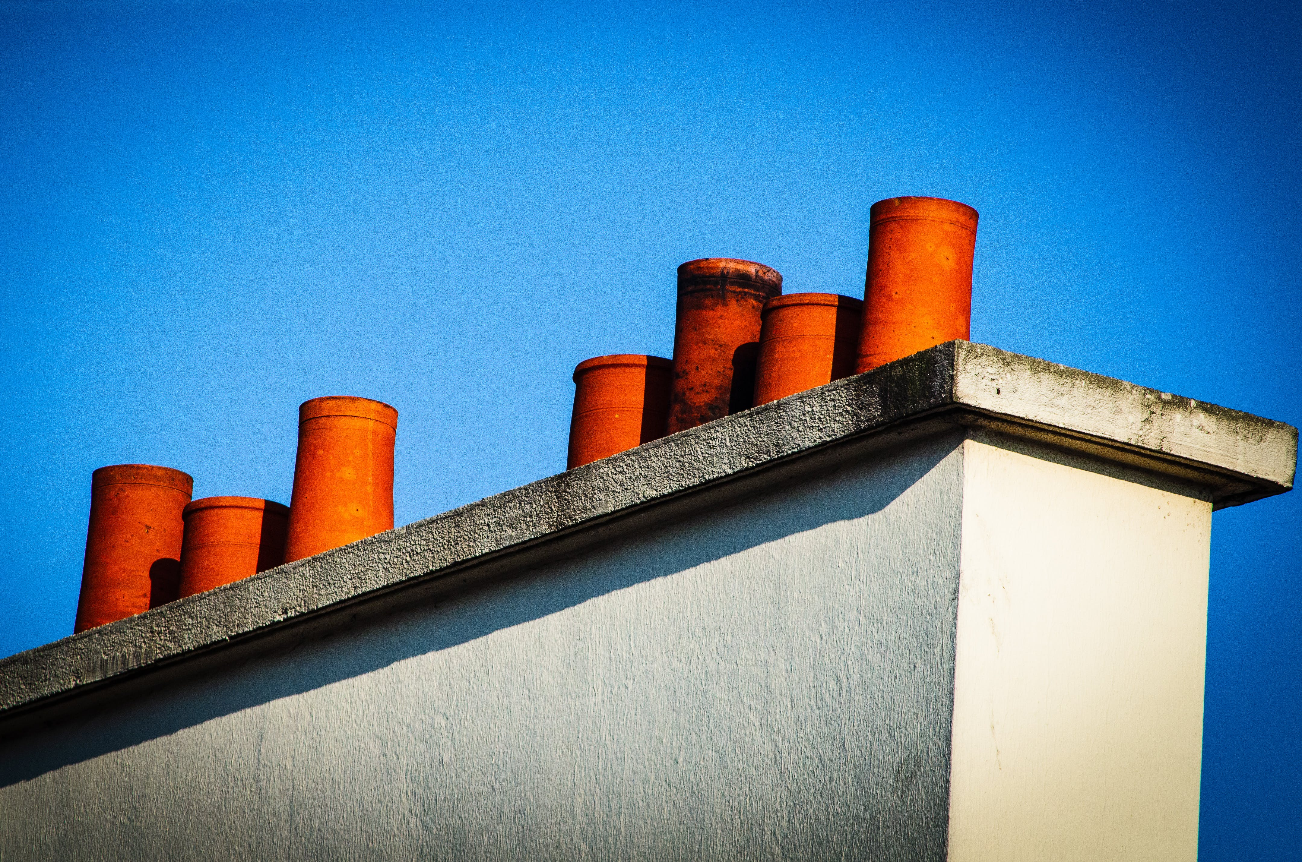 Free stock photo of chimneys