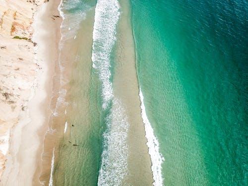 Gratis lagerfoto af bevægelse, bølger, dronefotografering, droneoptagelse
