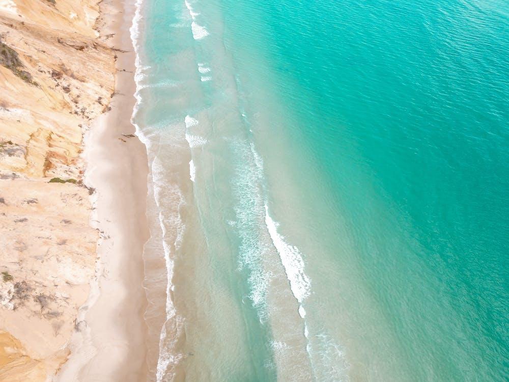 bord de mer, caméra drone, côte