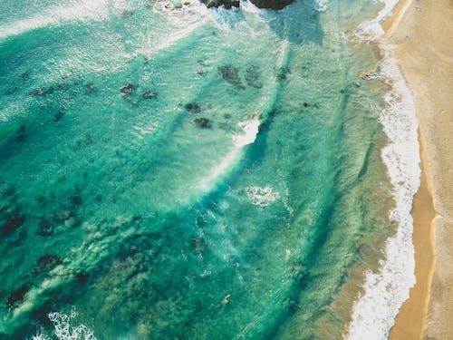 Δωρεάν στοκ φωτογραφιών με drone cam, αεροφωτογράφιση, ακτή, άμμος