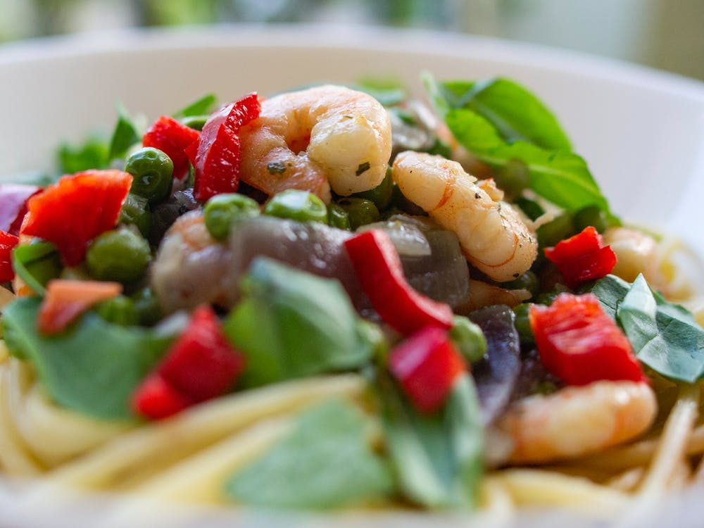 Shrimps and Vegetable Dish